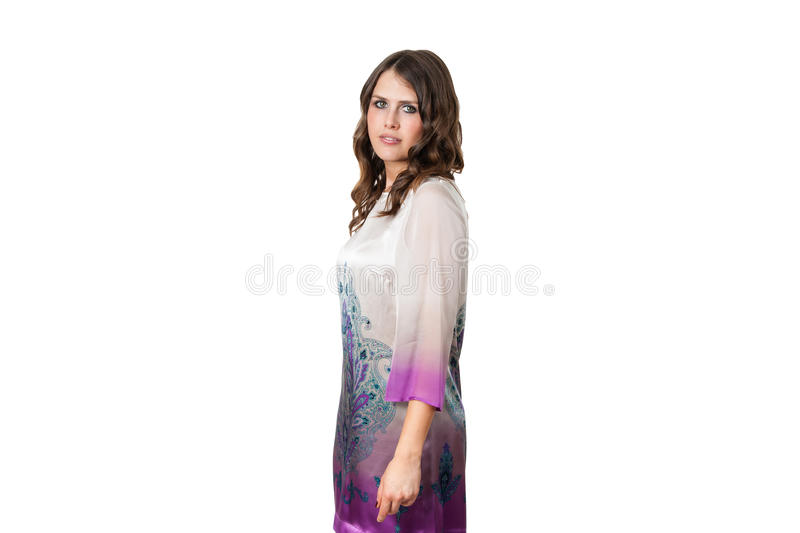 Download Attractive Young Girl Posing In A Stylish Dress Stock Photo - Image: 25383266