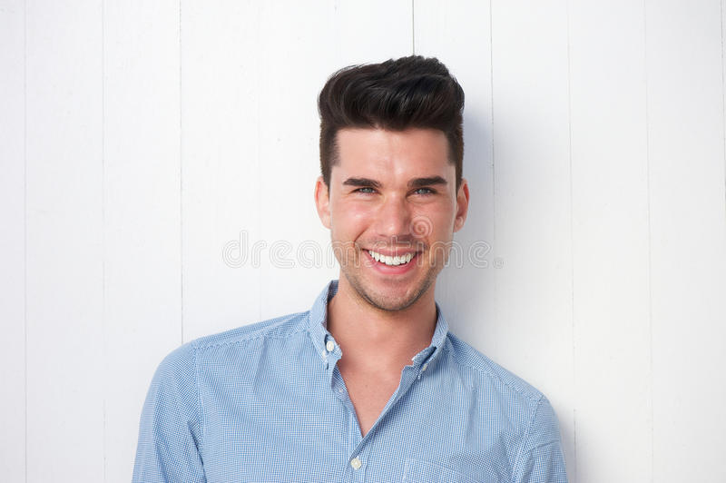 Download Attractive Young Man Smiling Outdoors Stock Image - Image: 32490495