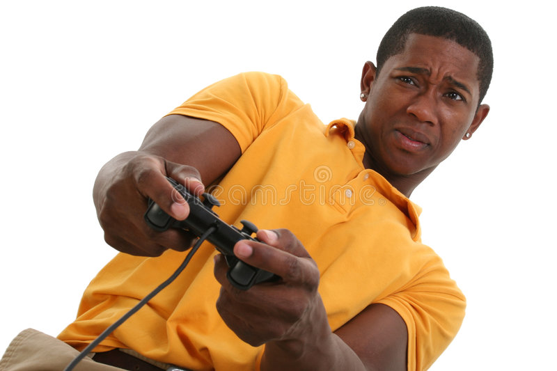 Download Attractive Young Man With Video Game Control Pad Royalty Free Stock Photography - Image: 191837