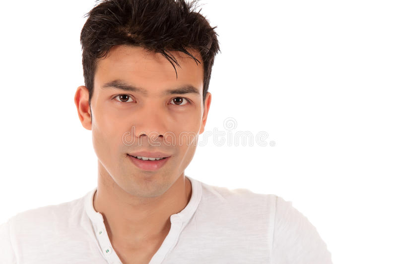 Attractive young Nepalese man, portrait stock photos