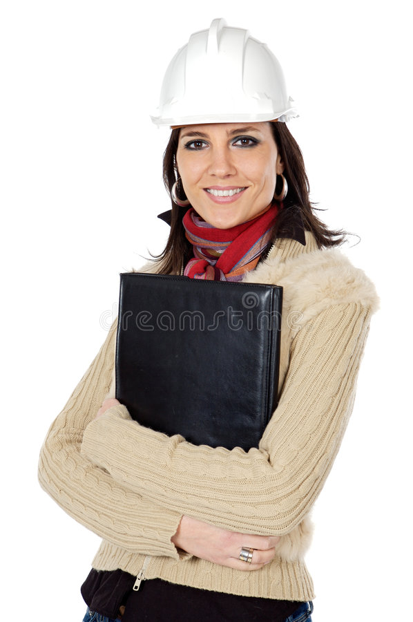 Attractive young person architect royalty free stock image