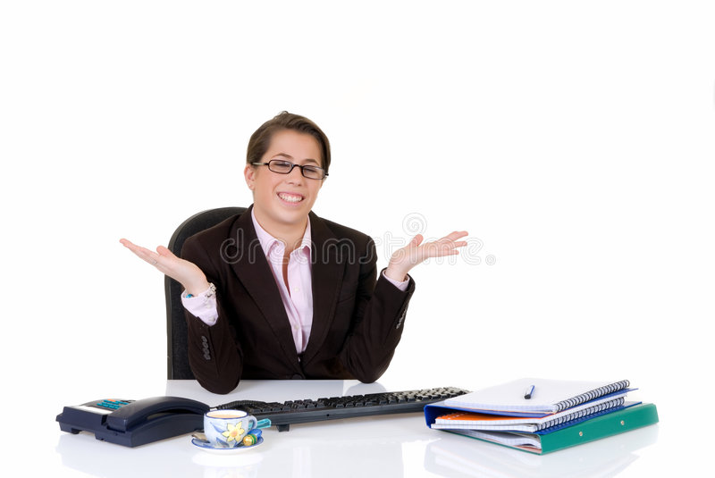 Download Attractive young secretary stock photo. Image of isolated - 4634904