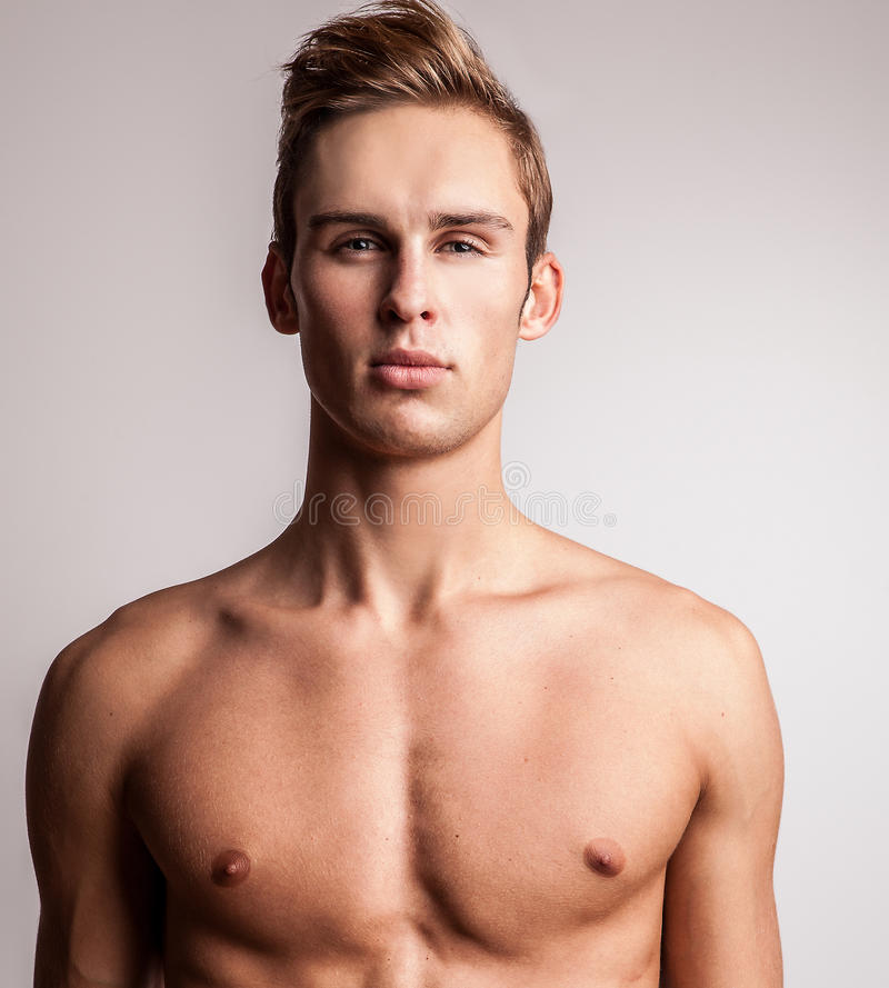 Free Attractive Young Undressed Man Model. Royalty Free Stock Photography - 34771567