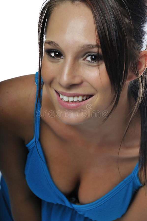 Attractive young woman stock images