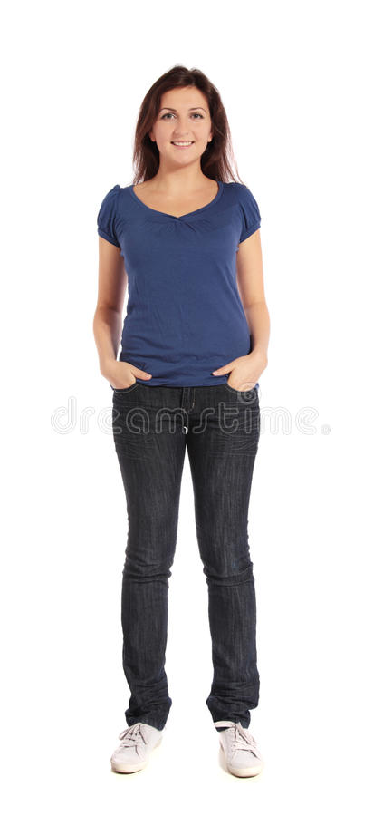 Attractive young woman royalty free stock photo