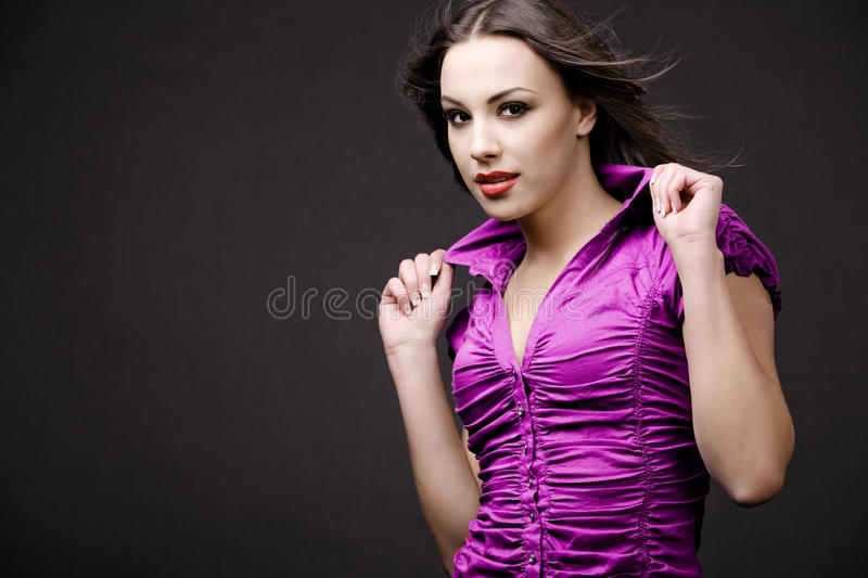 Attractive young woman. stock images