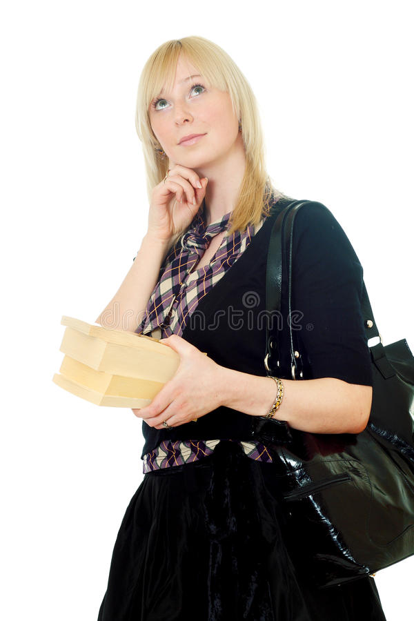 Attractive young woman royalty free stock photography