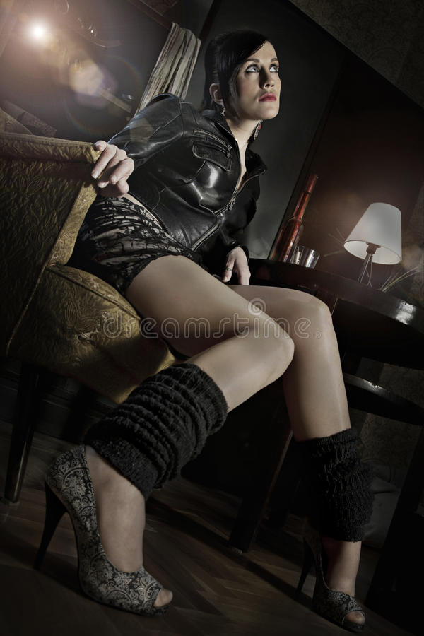 Download Attractive young woman stock image. Image of jacket, famous - 22936355