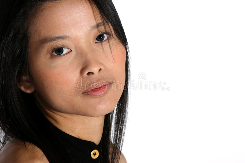 Download Attractive young woman stock photo. Image of black, hair - 4170536