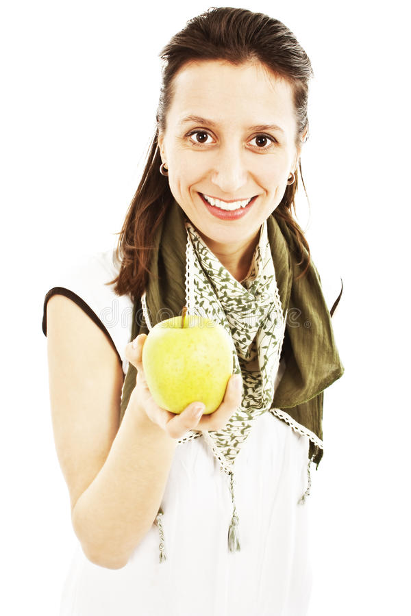 Download Attractive Young Woman With An Apple Stock Photo - Image: 24057842