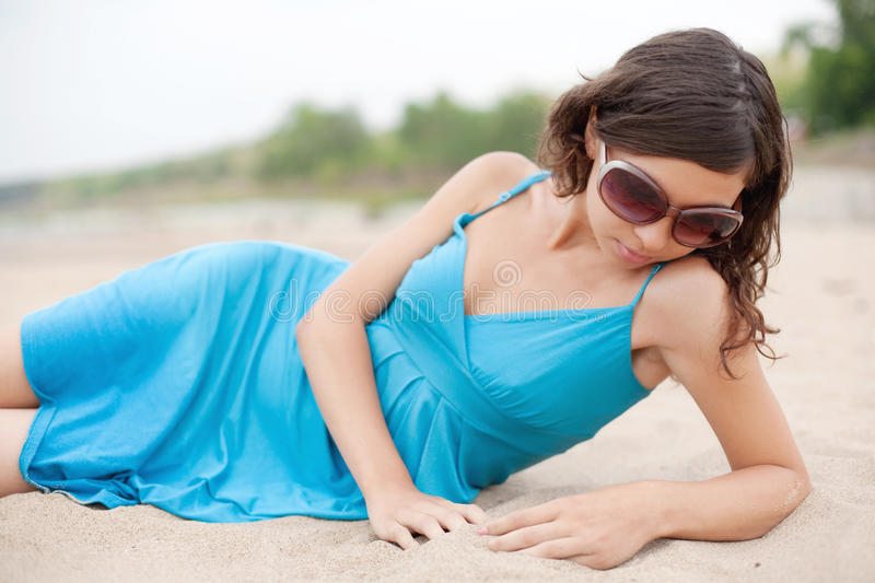 Attractive Young Woman On The Beach Royalty Free Stock Photography
