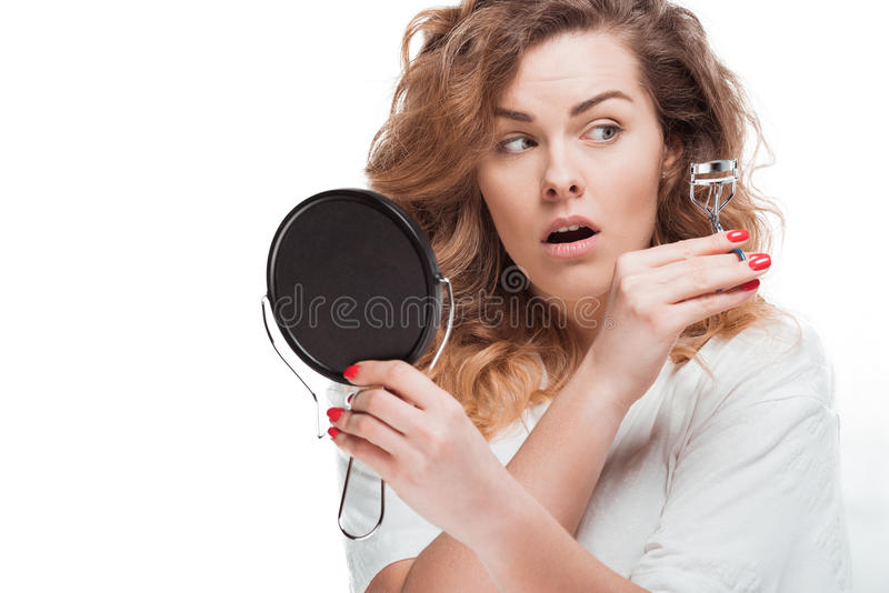 Woman Holding Mirror 13537 LOADTVE