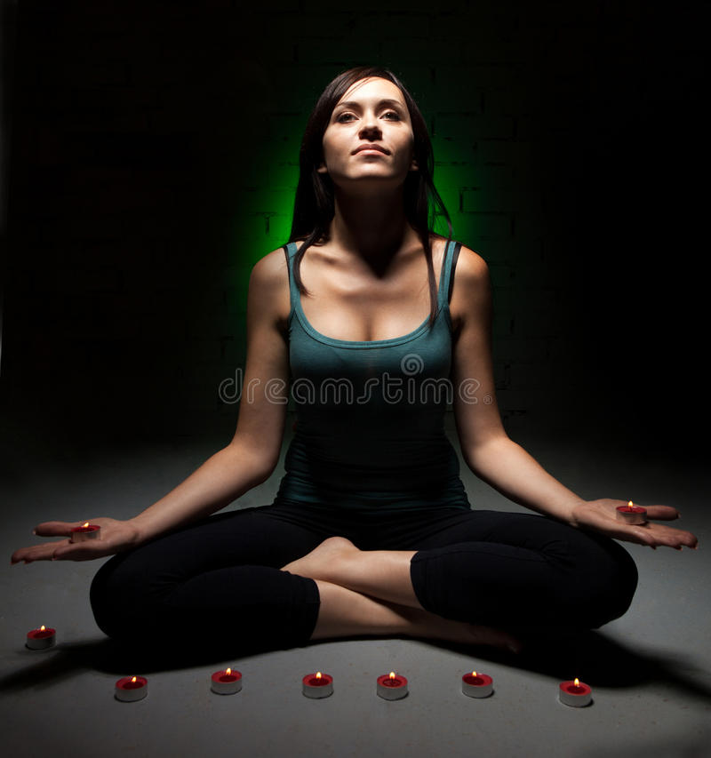 Download Attractive Young Woman Doing Yoga Stock Photo - Image: 26898616