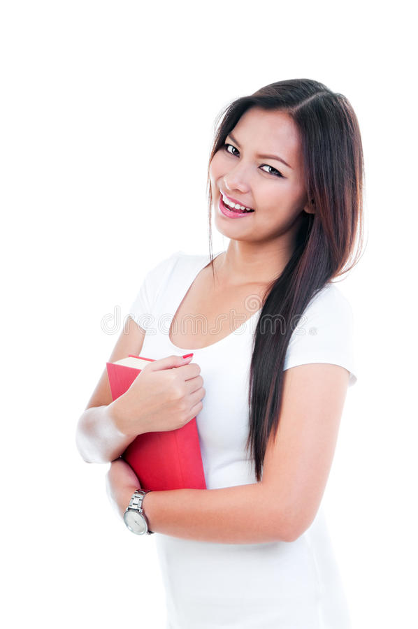 Download Attractive Young Woman Holding Book Stock Image - Image: 25621263