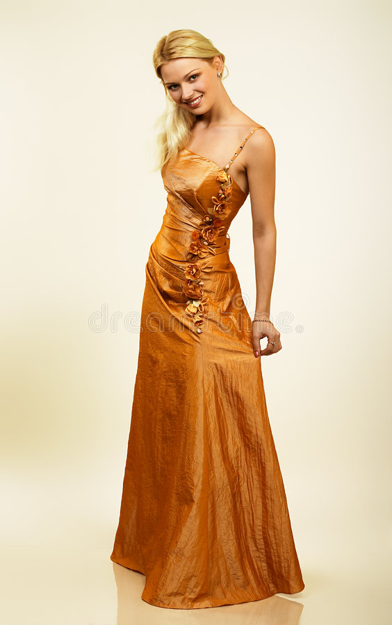 Free Attractive Young Woman In Evening Dress. Portrait. Stock Photo - 377290
