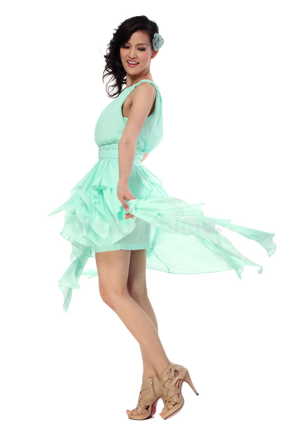 Free Attractive Young Woman In Stylish Dress Stock Photos - 21973013