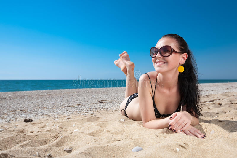 Download Attractive Young Woman At The Sea Stock Image - Image: 21767191