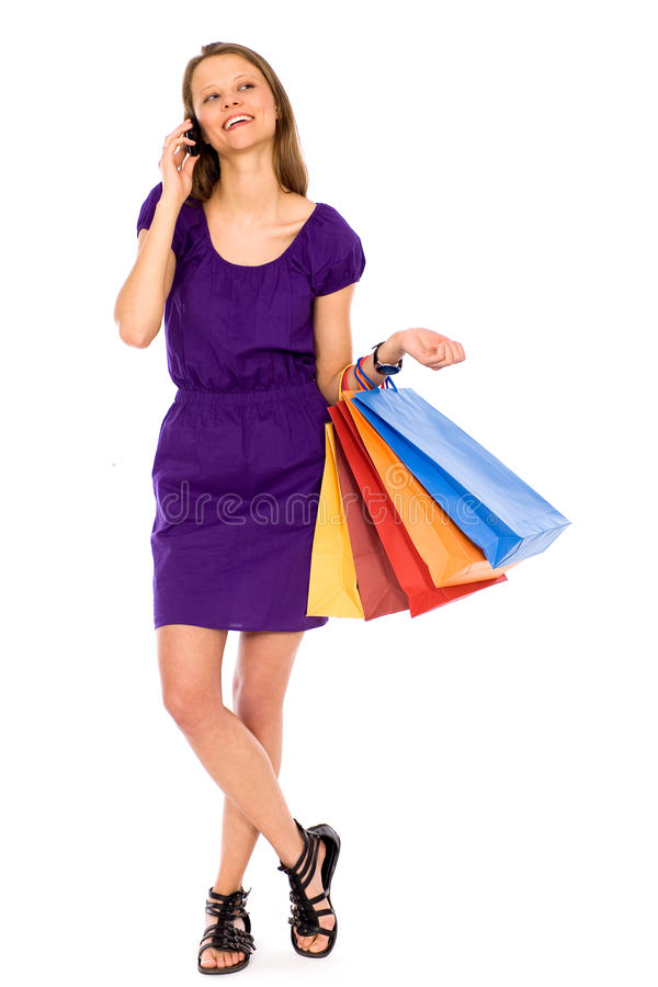 Attractive Young Woman Shopping Royalty Free Stock Photography