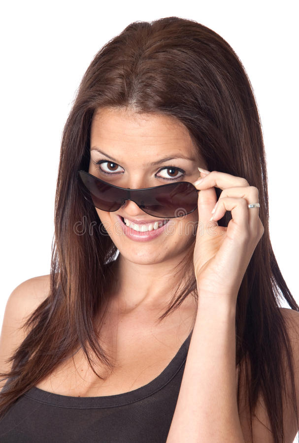 Download Attractive Young Woman With Sunglasses Stock Photo - Image: 13839188