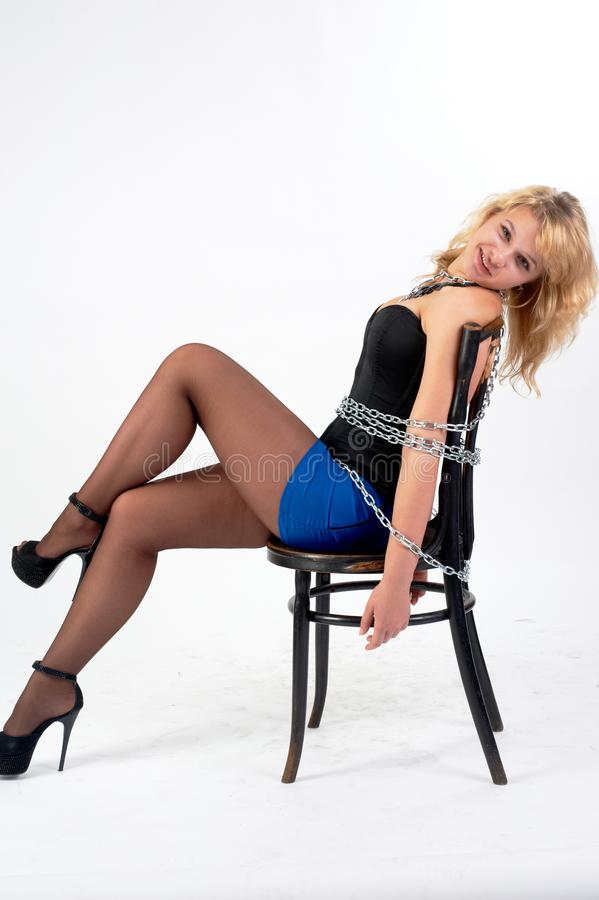 Teen babe tied to a chair and fucked, bad nude woman