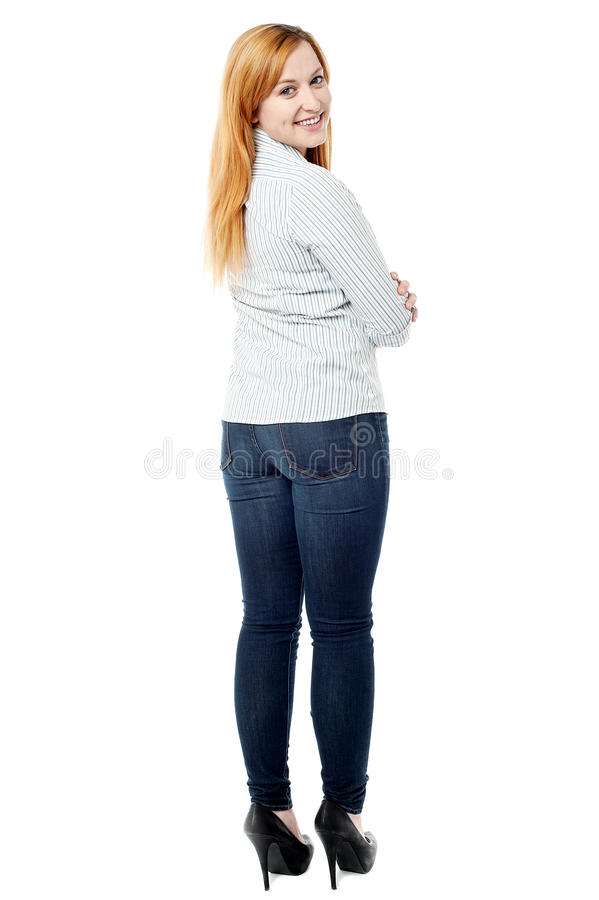Free Attractive Young Woman Turning Back Royalty Free Stock Photos - 34053448