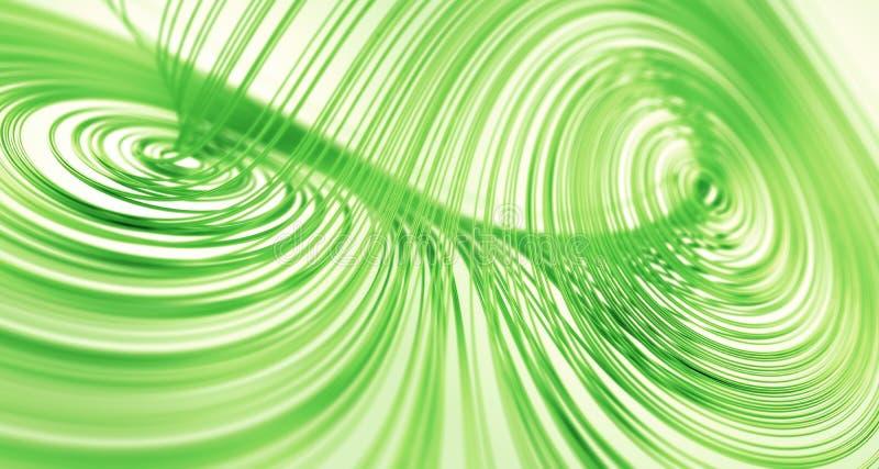 attractor zielony Lorenz royalty ilustracja