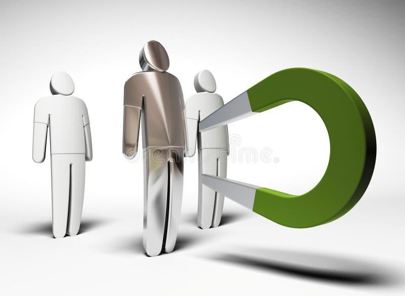 Attragga il cliente illustrazione vettoriale