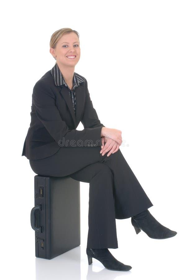 attraktiv affärskvinna royaltyfri bild