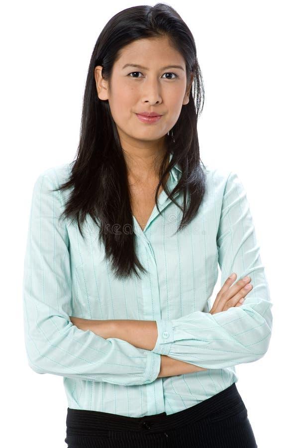 Attraktiv affärskvinna arkivfoto