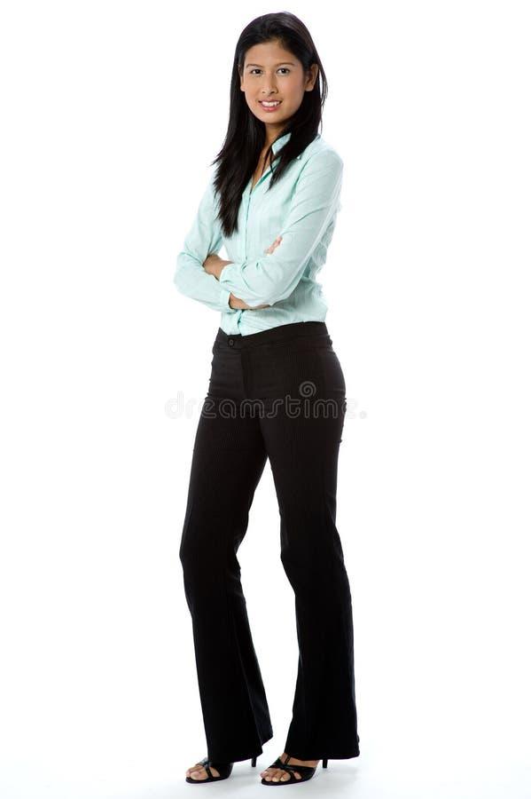 Attraktiv affärskvinna royaltyfria bilder