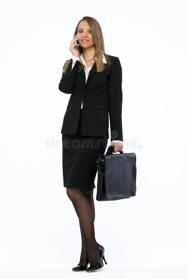 attraktiv affärskvinna royaltyfri fotografi