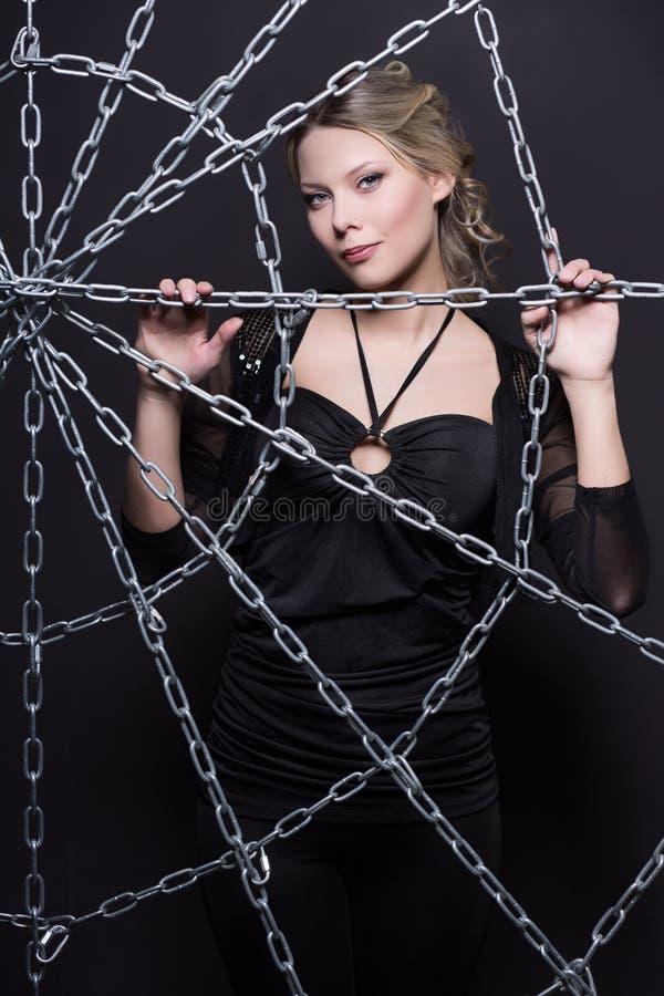 attraktiv blond kvinna royaltyfri fotografi