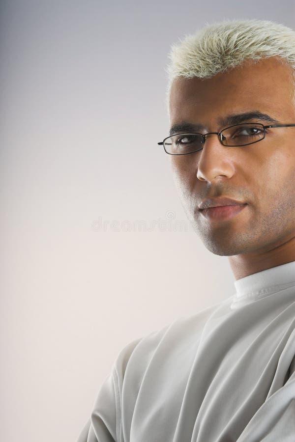 attraktiv blond man arkivbilder