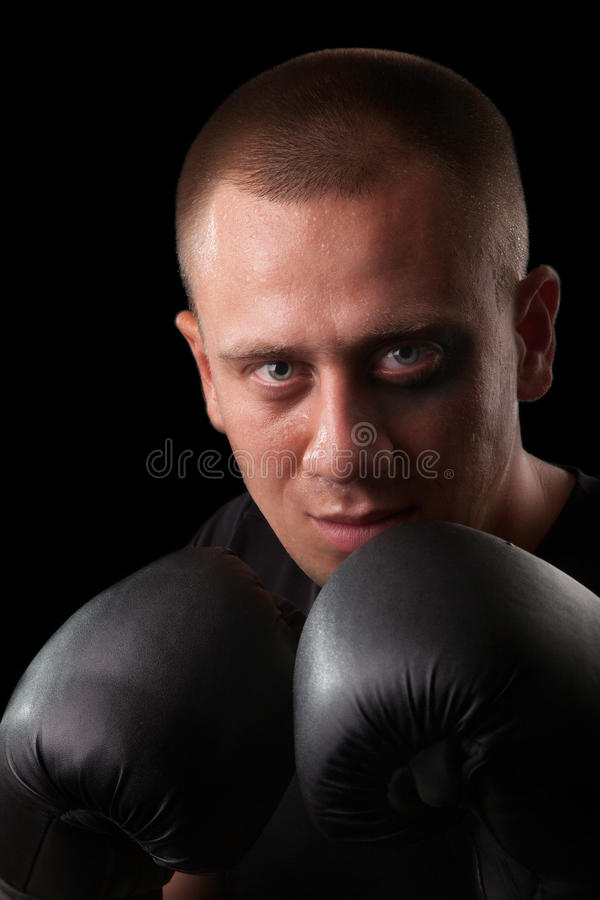 attraktiv boxarestående arkivbilder