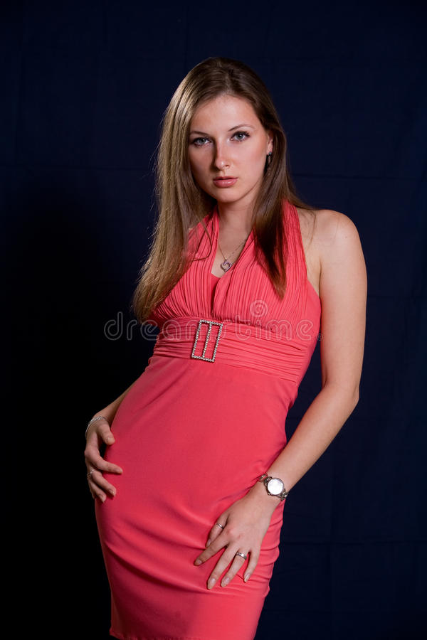 attraktiv caucasian twentieskvinna arkivbild