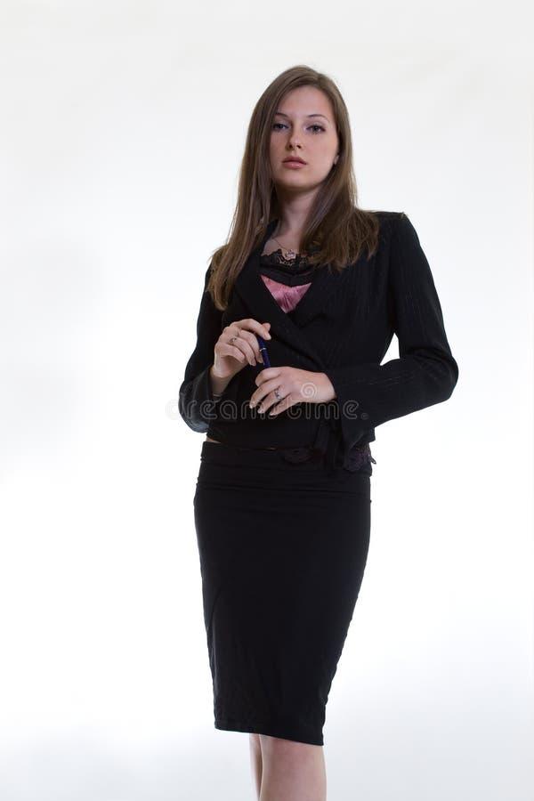 attraktiv caucasian twentieskvinna royaltyfria foton