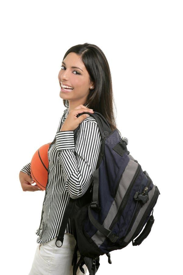 attraktiv deltagare för påsebollbasket royaltyfria foton