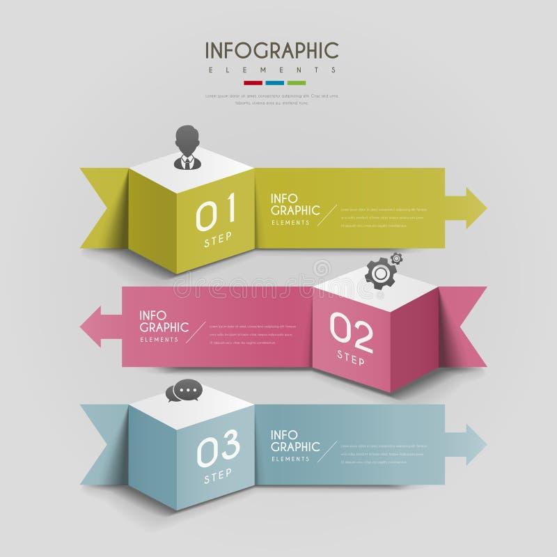 Attraktiv infographic design vektor illustrationer