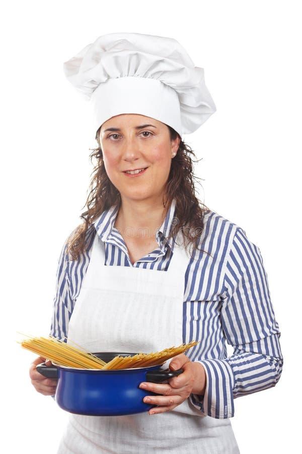attraktiv kockkvinna arkivfoton