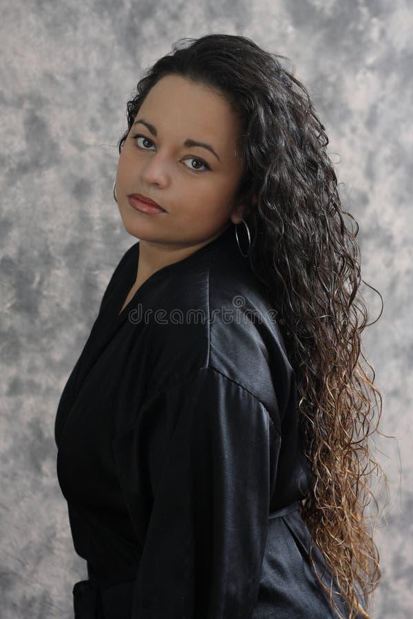 attraktiv kvinna arkivfoto