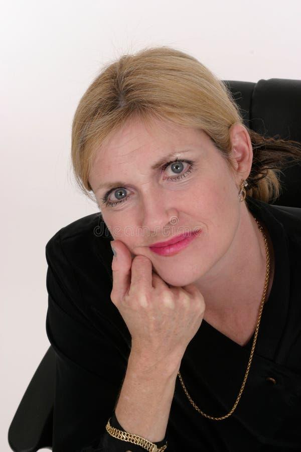 attraktiv kvinna för ledare för affär 7 royaltyfri bild