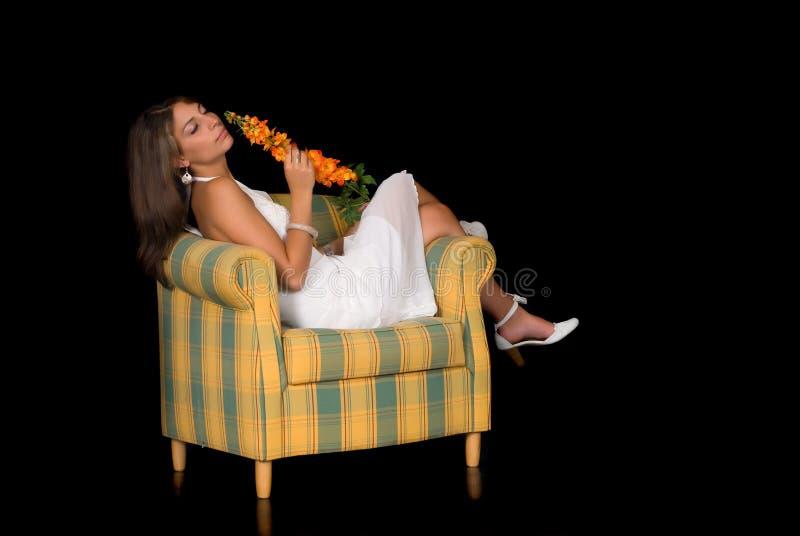 attraktiv lady royaltyfria bilder