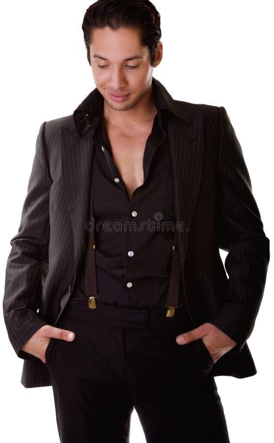 attraktiv ner latino som ser male royaltyfri foto