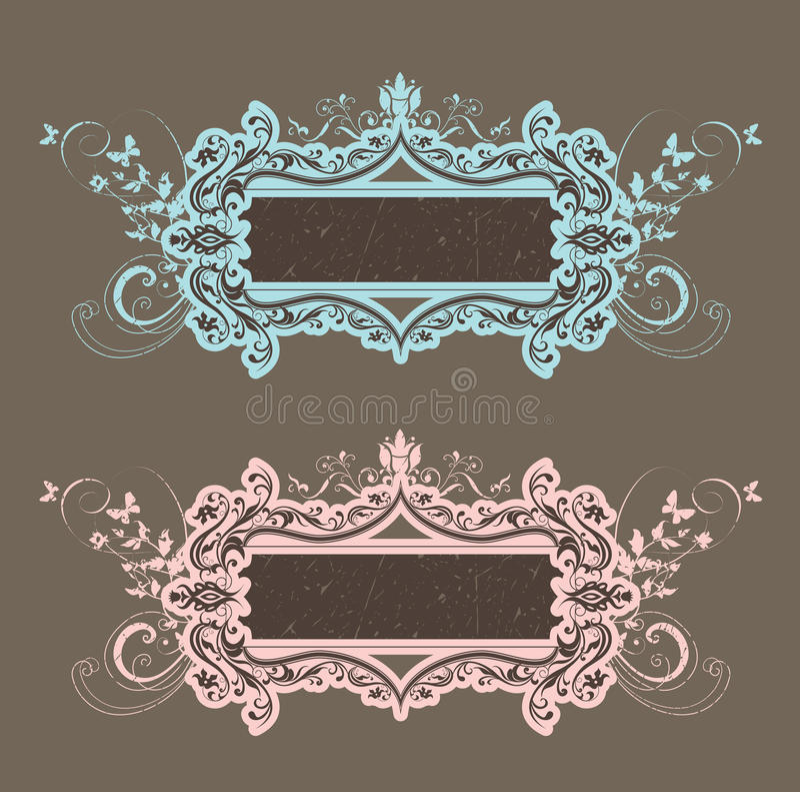 attraktiv ramtappning royaltyfri illustrationer