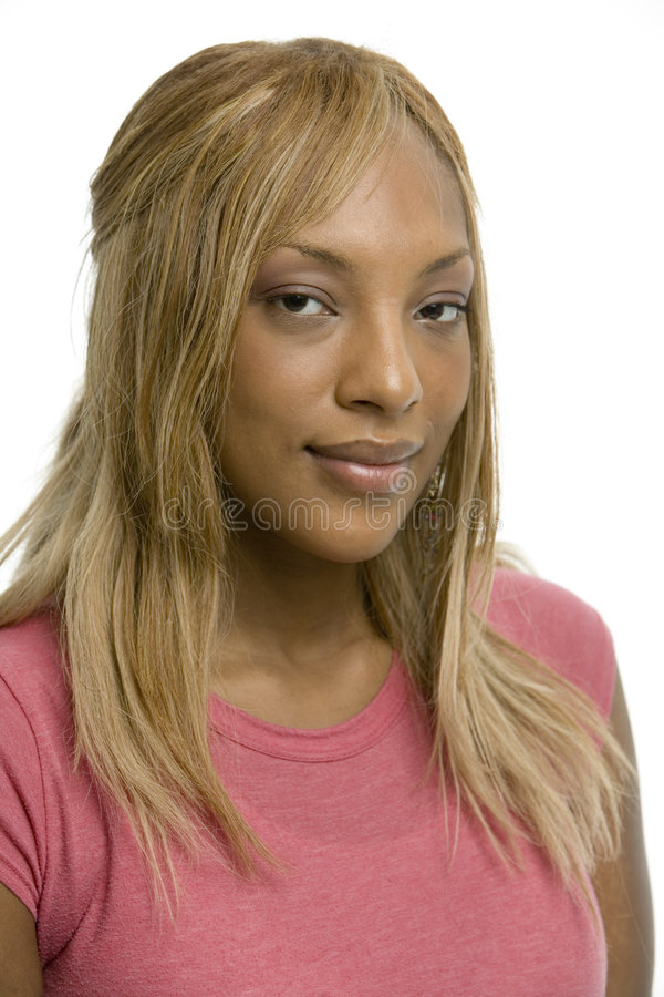 attraktiv rosa kvinna royaltyfria bilder