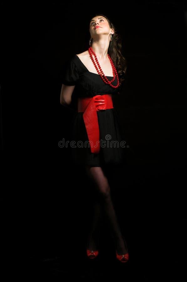 attraktiv svart flicka arkivfoto