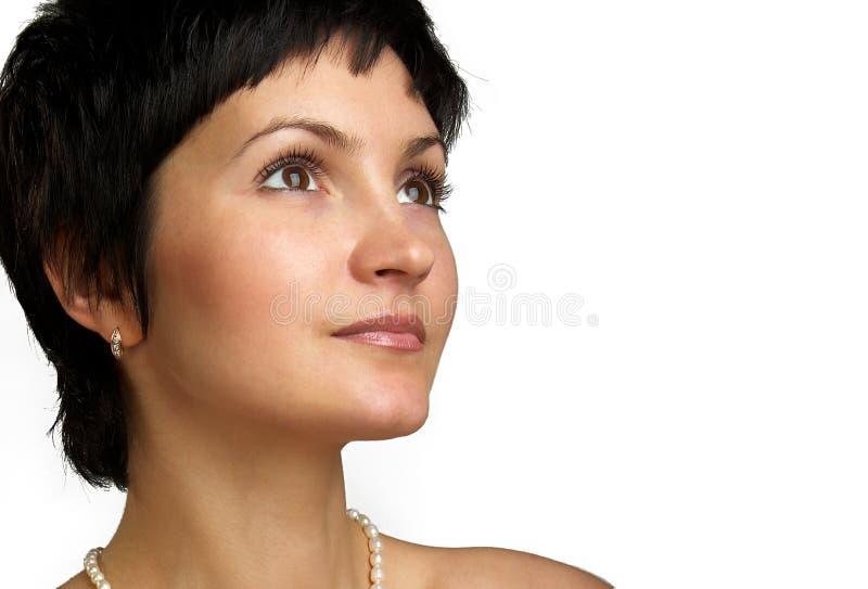 attraktiv tät stående upp kvinna royaltyfria foton