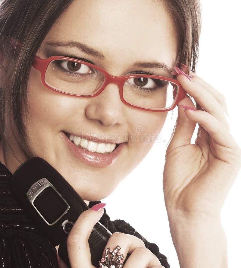 Attraktiv ung affärskvinna royaltyfria foton