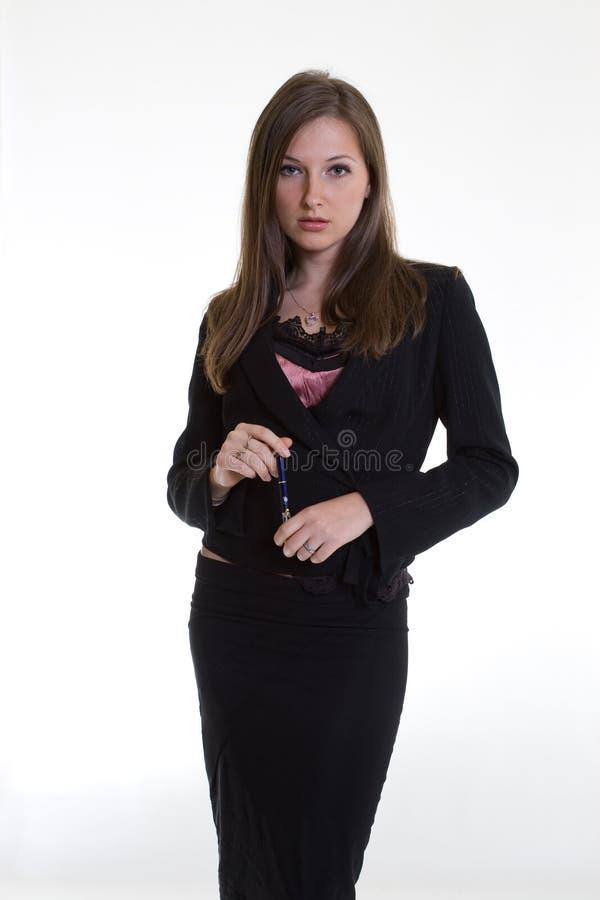 attraktiva affärskvinnacaucasiantwenties arkivfoto