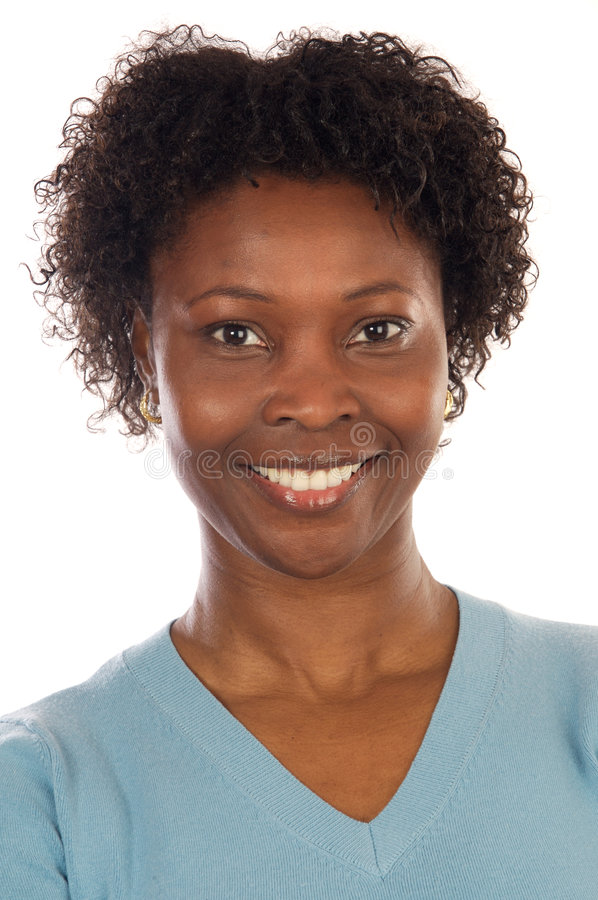 Attraktive afrikanische Frau stockbild